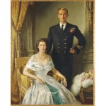 Their Royal Highnesses, Princess Elizabeth, Duchess of Edinburgh and the Duke of Edinburgh by Margaret Williams, 1948 oil on canvas. Sydney Town Hall Collection 88-362 Photo Greg Piper